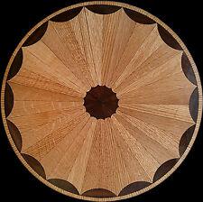"Hardwood Flooring Medallion,28"" Elegant Classic Inlay Design,FREE PRE-FINISHING"