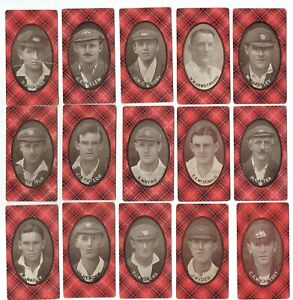 CRICKET: Complete set (15) 1920 McIntyre Bros Australian Champion Eleven 1920-21