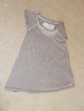Mezcla de color marrón Abercrombie & Fitch T-shirt Top-Talla S