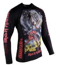 Tatami x Iron Maiden Number Of The Beast BJJ Rash Guard LARGE Jiu Jitsu MMA