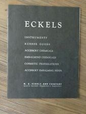 Rare 1959 Eckels Embalming Fluids & Funeral Supply Catalog