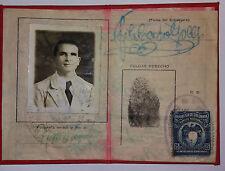 CARTA D'IDENTITA'-COLOMBIA-X-STRANIERI-MARCA DA BOLLO-IMPRONTA-1932-X-ITALIANO