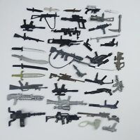 "random lot 40 GI Joe Cobra 3.75""  figure's  Accessories Guns sword  Weapons BF5"
