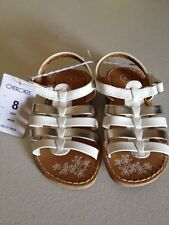 Cherokee White And Silver Sandles NWT Toddler Size 8