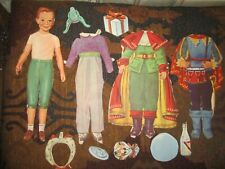 cutout lot of 4 vintage  peter pan & freinds paper doll and  fashions