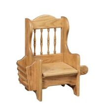 Childs Potty Training Chair with Lid, Rack, & Holder Solid Oak Amish Made!