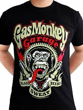 Gas Monkey Garage Spark Plugs Blood Sweat Beers Licensed Black Mens T-shirt XL