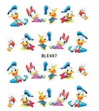 Donald Duck And Daisy Duck Nail Art Decals (water decals) Disney Nail Art