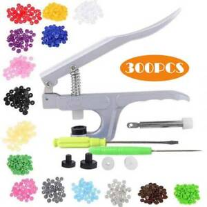 300 Complete Sets KAM Snaps T5 Press Poppers Resin Snaps Fasteners+1 Pliers