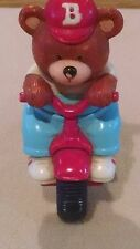 Vintage Squicky Bear On A Royce Union Bicycle Toy/Fisher Price/Playskool/Dog Toy