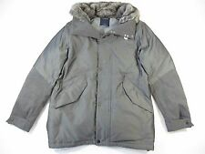 NAUTICA GRAY LARGE FAUX FUR PADDED JACKET MENS NEW
