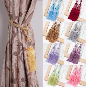 1 Pair New Cream Rope Tassle Curtain Tie Backs Matching Tassel Tiebacks Tassled