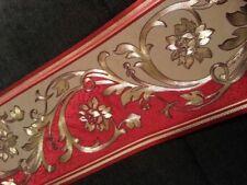wunderschöne Barock Bordüre Rot , GOLD   5m lang 17,7 cm