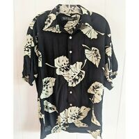 Tori Richard Hawaiian Shirt Men's Small Tropical Beach Summer Palm Leaves Aloha