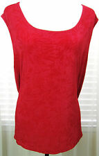 CITIKNIT Size 3X Red Tone on Tone Sleeveless Slinky Top