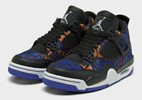 Air Jordan Retro 4 SE Size 5Y Black White Rush Violet GS (BQ9043 005)
