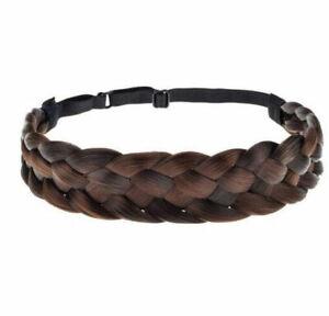Women Braided Headband Plait Plaited Elastic Hair Band Hairwear Accessories uk
