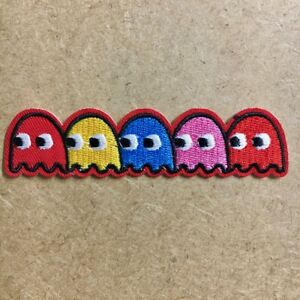 1pc Pac Man Monster Embroidered Patch Cloth Iron On Applique wakka pacman #1103