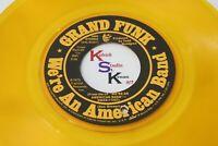 Rare Yellow Wax GRAND FUNK American Band / Creepin' CAPITOL 3660 VG++ 1973