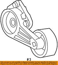 FORD OEM-Serpentine Fan Belt Tensioner 2L3Z6B209CA
