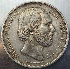 2½ Gulden 1867 Willem III King of the Netherlands Nice Grade KM# 82 !!