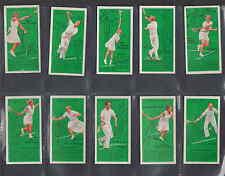 Série complète de 50 étiquettes cartes Anglaise  Tennis Femmes    Année 1936