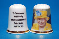 To Commemorate 93rd Birthday of H.M.Queen Elizabeth Easter 2019 Thimble B/175