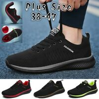 Mens Jogging Casual Shoes Running Lightweight Tennis Outdoor Breathable Sneakers