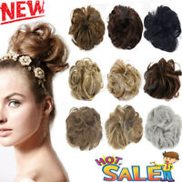 Hair Chignon Bun Messy Curly Hairpiece Wave French Scrunchie Style Hot Womens ZY
