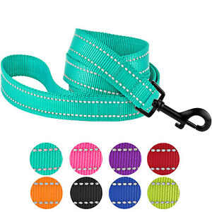 Reflective Dog Leash Safety Lead Nylon Training Leashes for Dogs Puppy 5ft Long