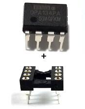 2PCS Burr Brown OPA134PA OPA134 + Sockets - Mono HiFi Audio OpAmp - New IC