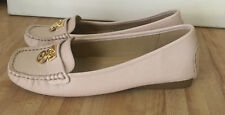 Michael Kors Womens Pale Pink Blush Hamilton Leather Loafers Shoes Size 8 NEW