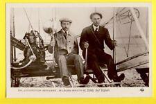 cpa FRANCE Avion airplane Les AVIATEURS Paul ZENS et Wilbur WRIGHT sur BIPLAN