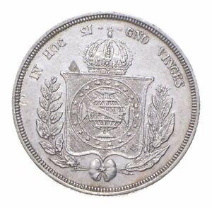 Better Date - 1857 Brazil 500 Reis - SILVER *439