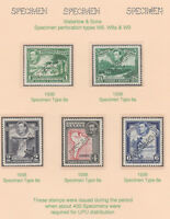 555  Br GUIANA 1938 KGVI def set perforated  SPECIMEN only  about 400 produced