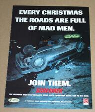 Screamer-carreteras lleno de Mad Men-PC -1994 Vintage Original Anuncio Cartel