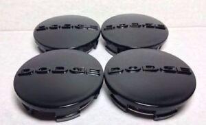NEW 4 Pcs black D-o-d-g-e Wheel Center Cap 63MM,  #1SK35TRMAA