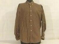 Men's Polo Ralph Lauren Blake Long Sleeved  Button Down Medium Brown/Tan Plaid