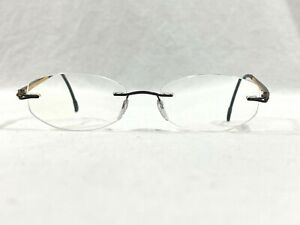 Silhouette 6688 50 6060 Rimless Rx Eyeglasses Silver Mounts 49▯17-130