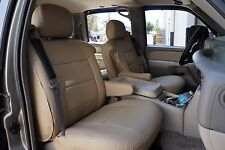 CHEVY AVALANCHE 2002-2006 IGGEE S.LEATHER CUSTOM SEAT COVER 13 COLORS AVAILABLE