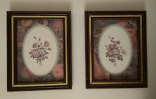 "Special Home Interior set of 2. - 9.5"" × 7.5"" floral pictures framed"