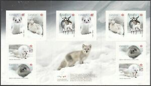 CANADA 2021 WILD ANIMALS SNOW WINTER ANIMAUX SAUVAGES BOOKLET S/A [#2101BK]