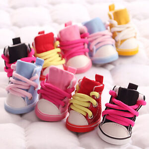 4Pcs Fashion Anti-Slip Breathable Pet Shoes Boots Sneakers Dog Puppy Supplies