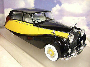 Mcg 1/18 Pressofuso 1956 Rolls Royce Argento Wraith Hooper Empress Nero & Giallo