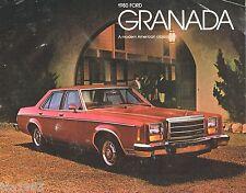 1980 Ford GRANADA Sales Brochure/Catalog with Spec's: ESS,GHIA,