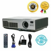 Epson PowerLite 750C 3LCD XGA Portable Projector HD 1080i HDMI-adapter w/Remote
