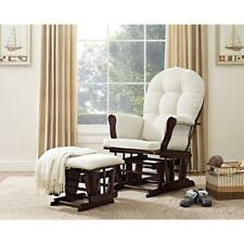 Nursery Glider Rocking Chair Ottoman With Padded Arms Nursing Home Furniture