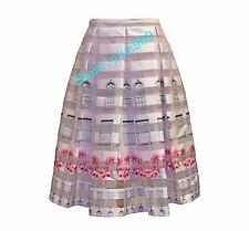 Ted Baker London Baby Pink Niica Window Print Midi Skirt Size 5 (US 12) $315