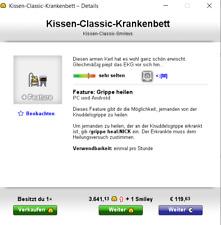 Knuddels.de Smiley Kissen Classic Krankenbett