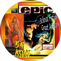 EPIC ILLUSTRATED SCIENCE FICTION MAGAZINE - 34 ISSUES - PDF ON DVD-GREAT ARTWORK